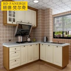 Kitchen Cabinet Door Small Space 整体橱柜定做现代中式防潮实木柜厨房厨柜门定制石英石全屋定制 厨柜门