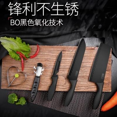 rating kitchen knives swan granite sinks 德国 德国不锈钢刀具套装全套厨房菜板厨具组合水果陶瓷刀家用菜刀套装