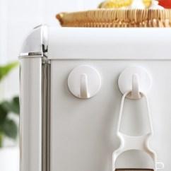 Kitchen Magnets Mosaic 懒角落冰箱磁铁挂钩冰箱贴磁贴厨房置物粘钩挂勾2个装 厨房磁铁