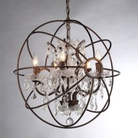 Foucault's Orb Crystal Chandelier Rustic Iron Replica ...