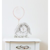 Bunny With Balloon Wall Decal | Temple & Webster