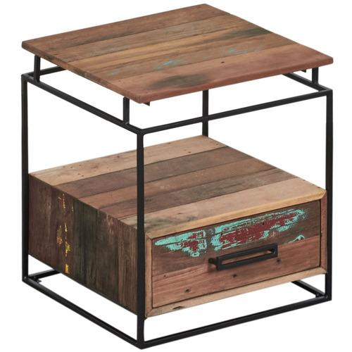 natural nako reclaimed wood bedside table