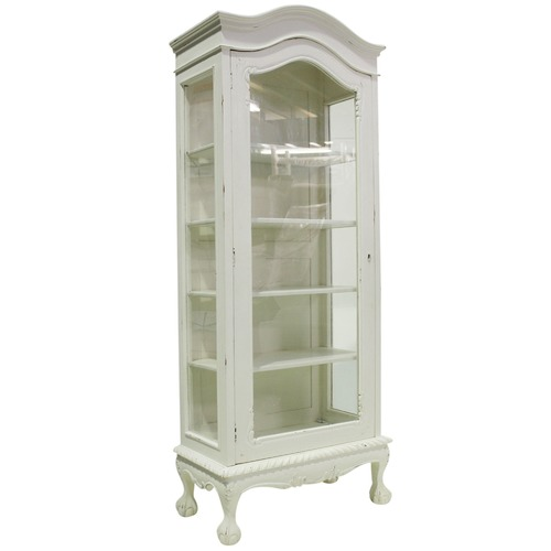French Provincial 1 Door Showcase Cabinet Temple Amp Webster