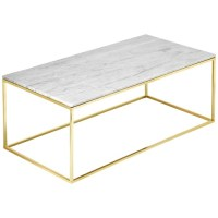 Estudio Furniture Como White Marble Coffee Table & Reviews ...