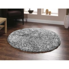 How To Choose Rug Size For Living Room Designs Condo Units Network Deluxe Shag White/grey Round & Reviews ...