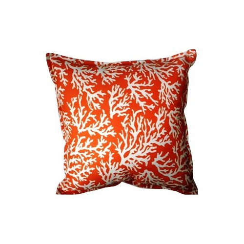 Coral Orange Accent Pillow  Temple  Webster