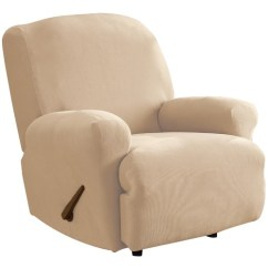 Recliner Chair Covers Stakmore Folding Chairs Antique Ivory Stretch Pearson Cover Temple Webster