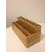 Bamboo Desk Organiser / Letter Holder | Temple & Webster
