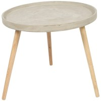 Medium Round Concrete Coffee Table   Temple & Webster