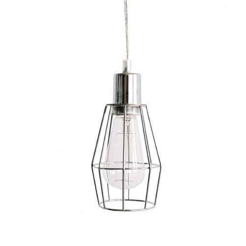 LuccaandLuna Wire Cage Industrial Pendant Light & Reviews