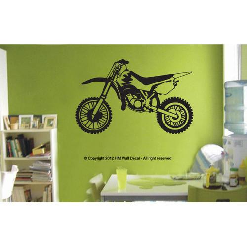 Dirt Bike Wall Sticker  Temple  Webster