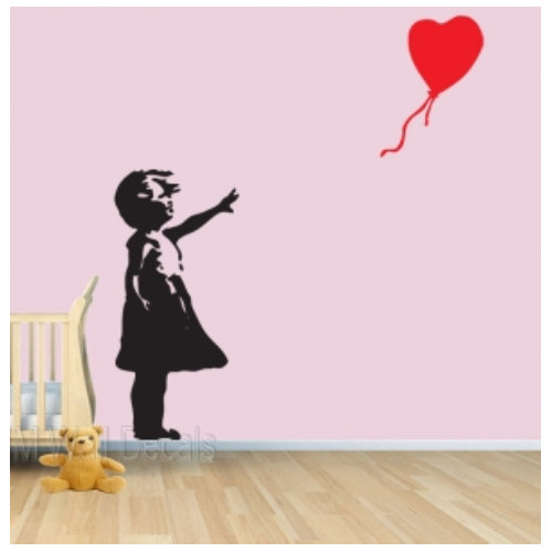 aqua and brown living room curtains design ideas no fireplace little girl floating balloon wall decal | temple & webster