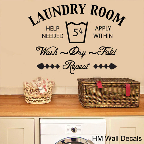 blue and brown living room curtains decor for pictures the laundry removable wall sticker | temple & webster
