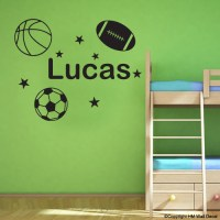 Personalised Name with Soccer Ball - Basketball - Football ...