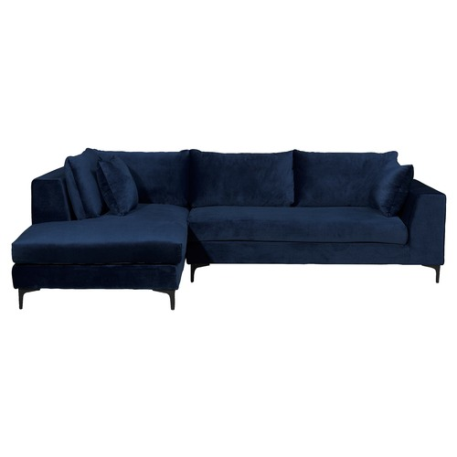 baby sofa seater martini navy blue velvet brooke 3 with chaise | temple ...