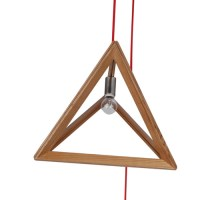 Triangle Timber 1 Light Pendant | Temple & Webster