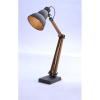 Table Lamp with Gourd Shaped Shade