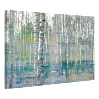 Teal Tree Forest Canvas Wall Art | Temple & Webster