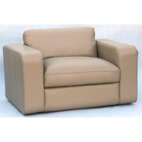 Single Seater Leather Sofa   Temple & Webster