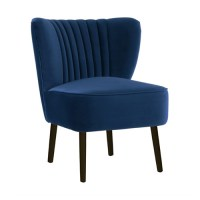French Navy Slipper Chair   Temple & Webster