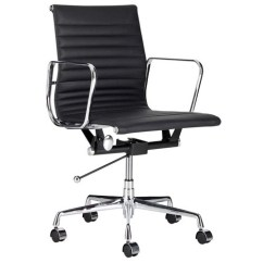Eames Management Chair Replica White Metal Chairs Milan Direct Leather Office Reviews Temple Webster