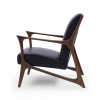 Black & Walnut Joakim Scandinavian Armchair | Temple & Webster