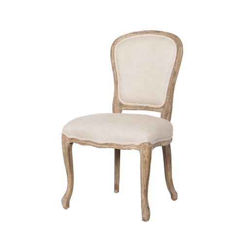 louis xv chair wooden slat chairs natural french linen oak temple webster