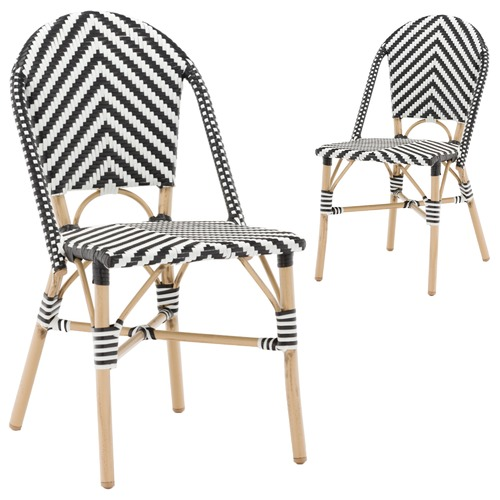 parisian cafe table and chairs rifton feeding chair black white paris faux wicker dining temple webster amp