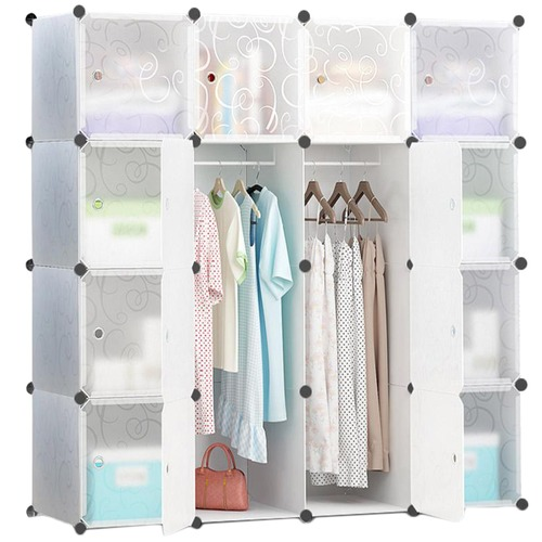 white lightweight storage cabinet