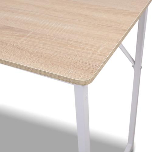 white minimalist metal desk