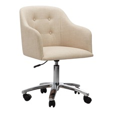 ergonomic chair brisbane revolving price below 2000 office chairs temple webster keely cream chrome contemporary home