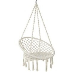 White Bohemian Hanging Chair Yellow Spandex Sashes Hammocks Hammock Chairs Temple Webster Swing