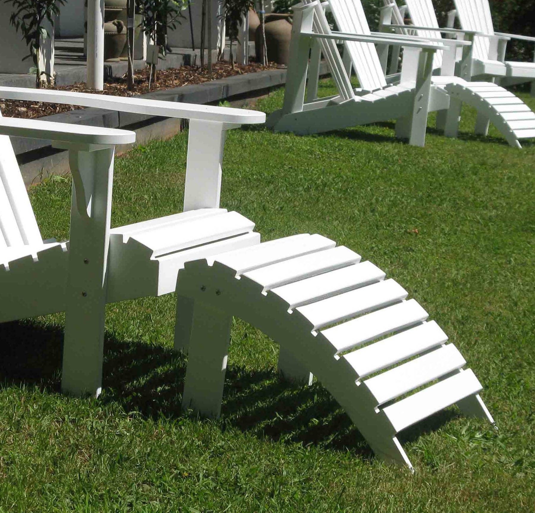 patio chair feet covers hire plymouth new adirondack hard wood foot rest ebay