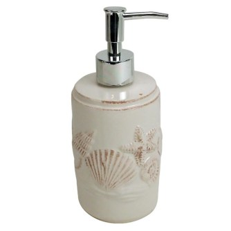 Temple & Webster Sea Shell Pup Dispenser for Sensitive Skin Cleanser and/or Lotion
