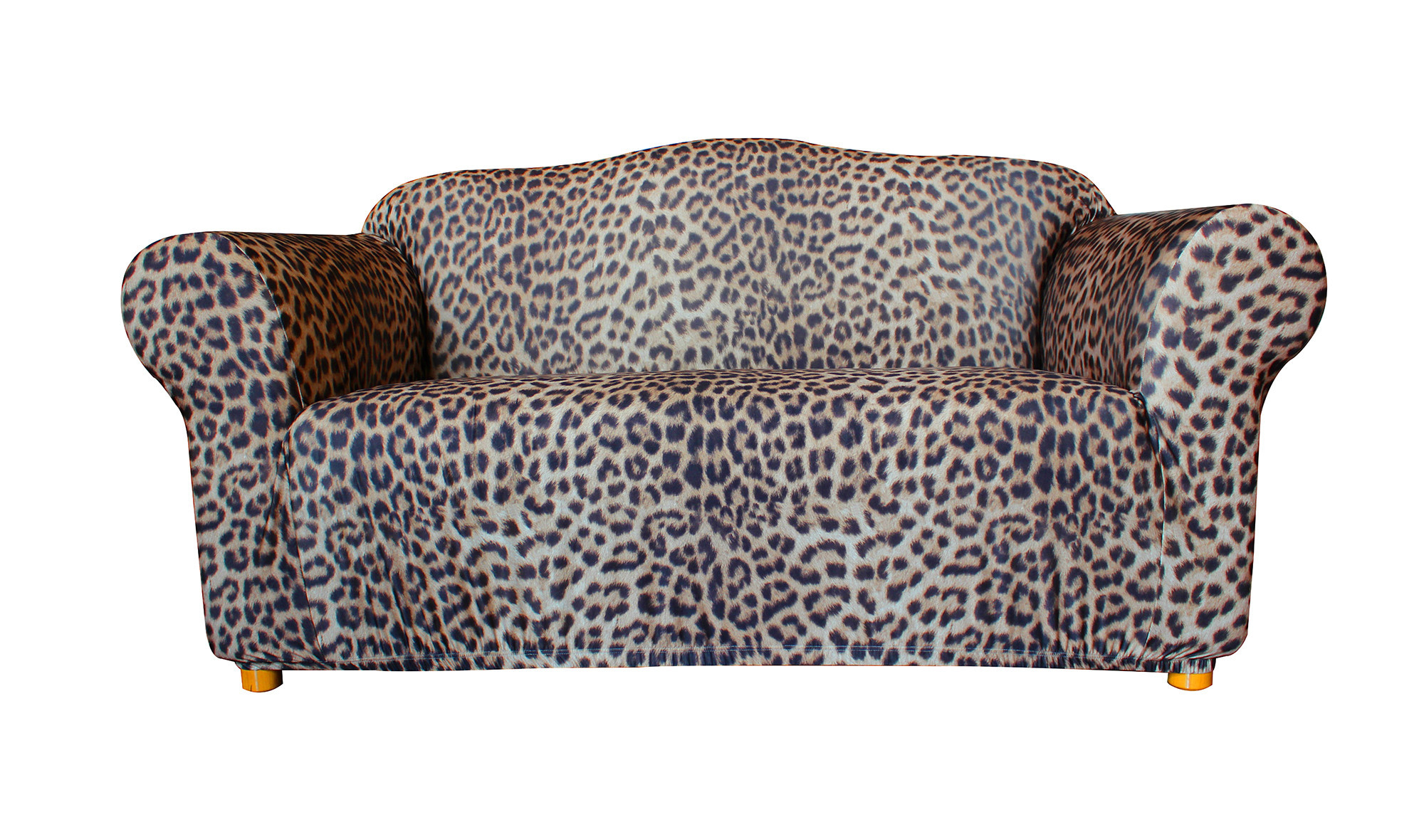 leopard print sofa appears corner bed orange new statement prints 2 seater cover