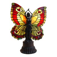 NEW Vivid Fairy Angel Tiffany Stained Glass Accent Lamp   eBay