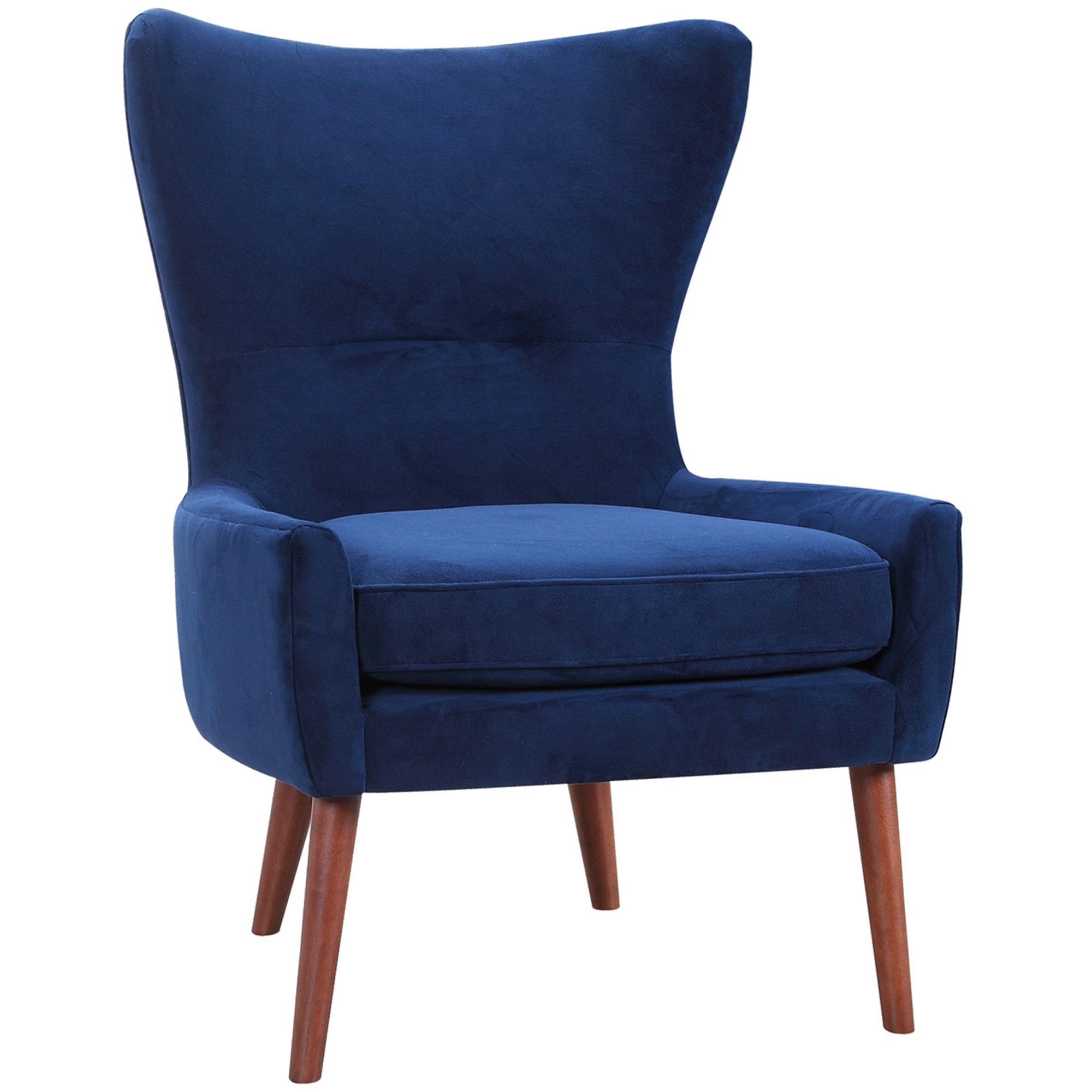 Wing Back Chairs Luna Velvet Wing Back Chair