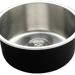 Round Kitchen Sink Storage Cabinet New Deep Single Bowl With Timber