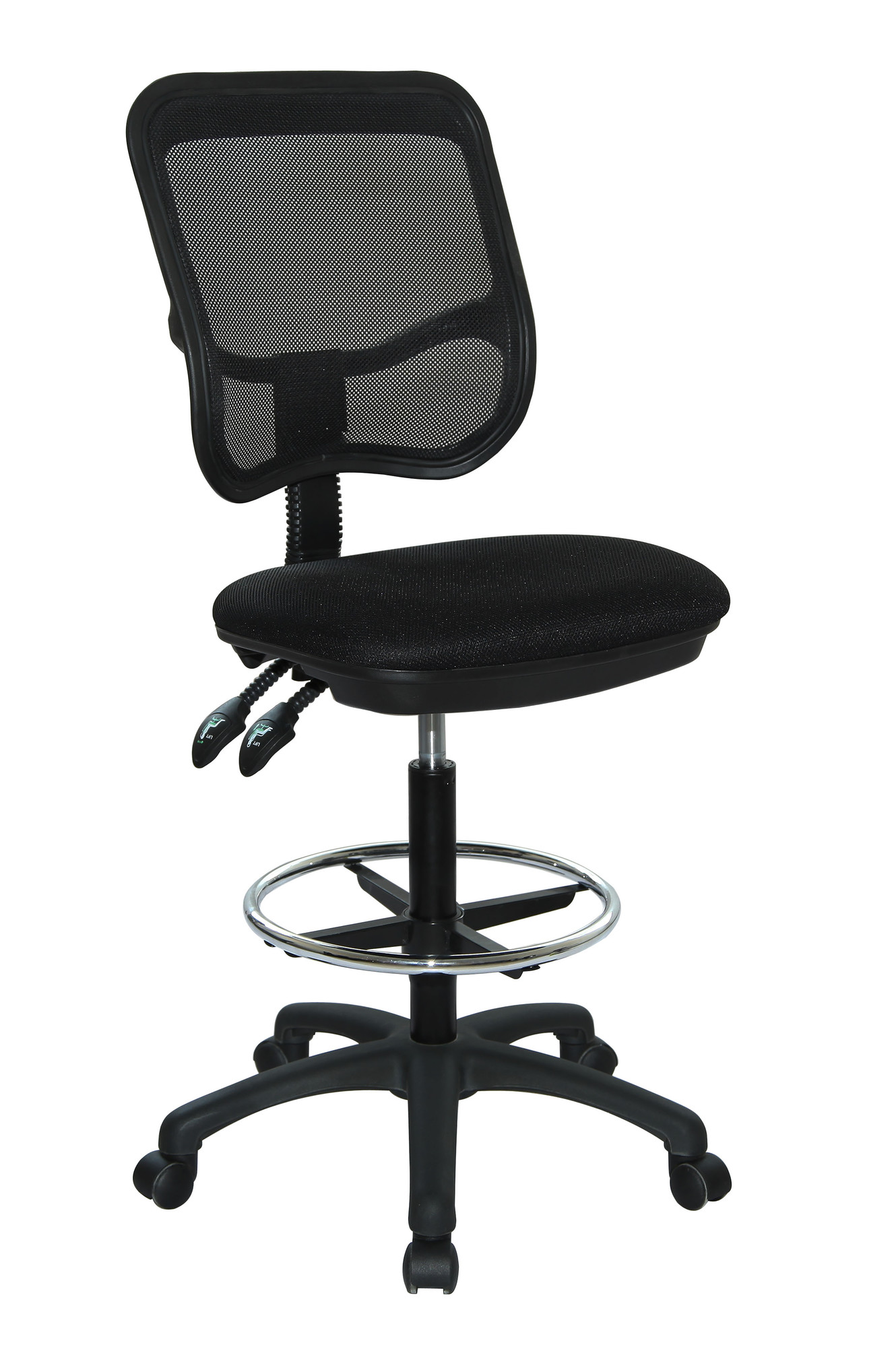 mesh drafting chair sling chaise lounge chairs with wheels new back ebay
