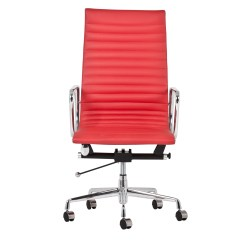 Eames Management Chair Replica Modern White Leather Recliner New High Back Office Ebay