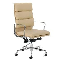 Eames Management Chair Replica Rustic Dining Chairs Canada New Premium Leather High Back Soft Pad