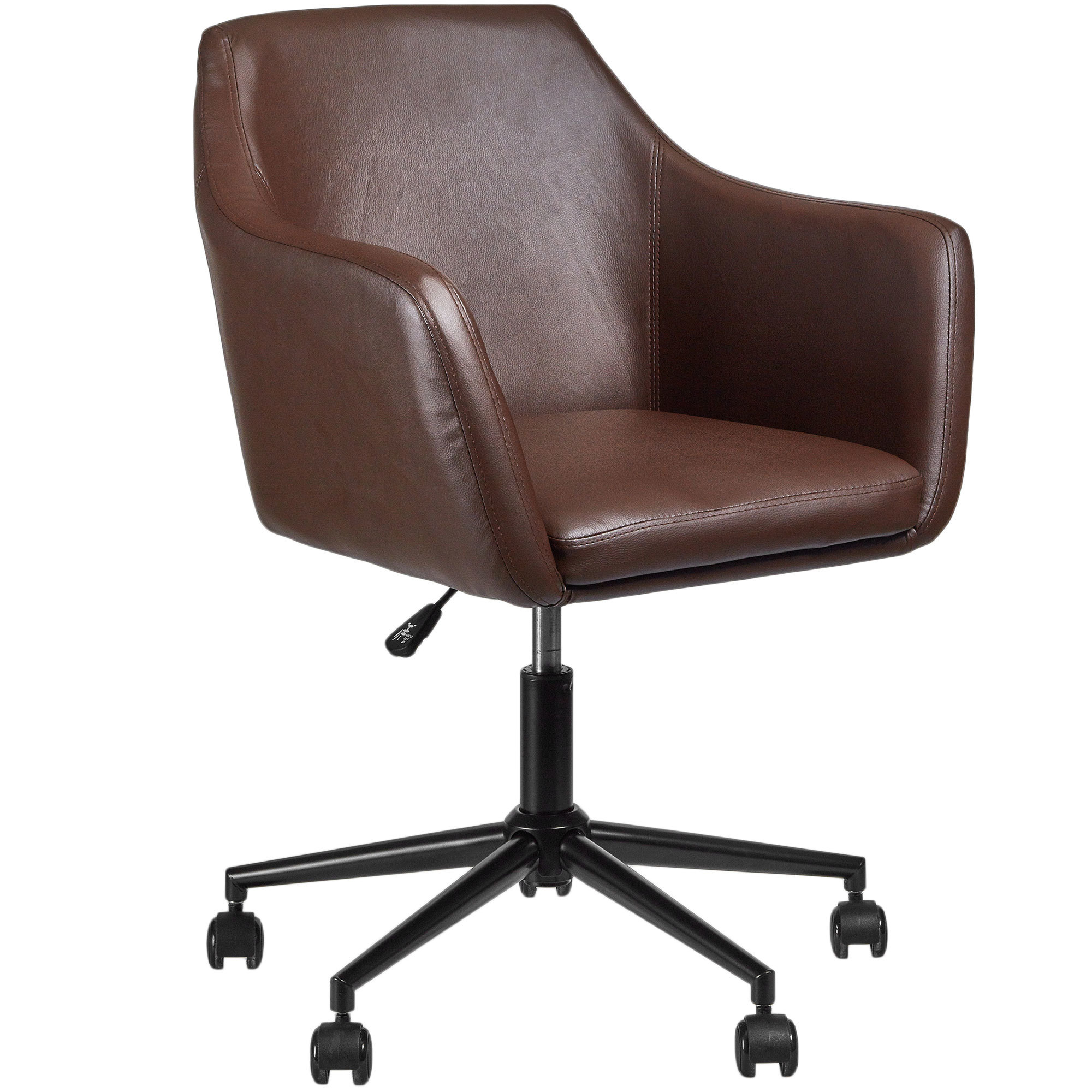 Home Office Desk Chairs Brown Manhattan Pu Home Desk Chair