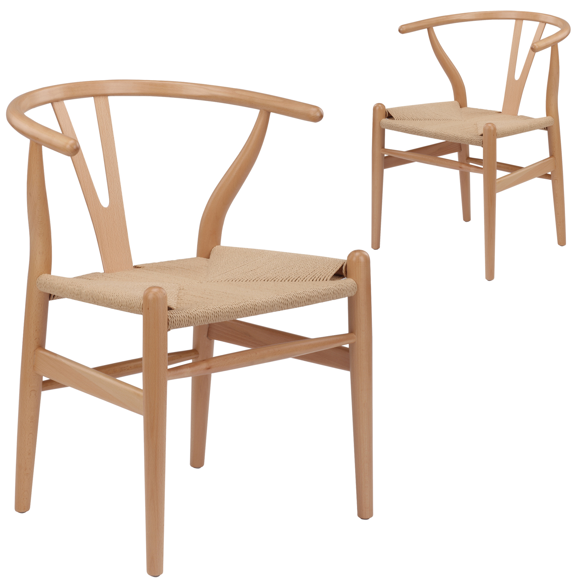 Wishbone Chairs Natural Hans Wegner Replica Wishbone Chair