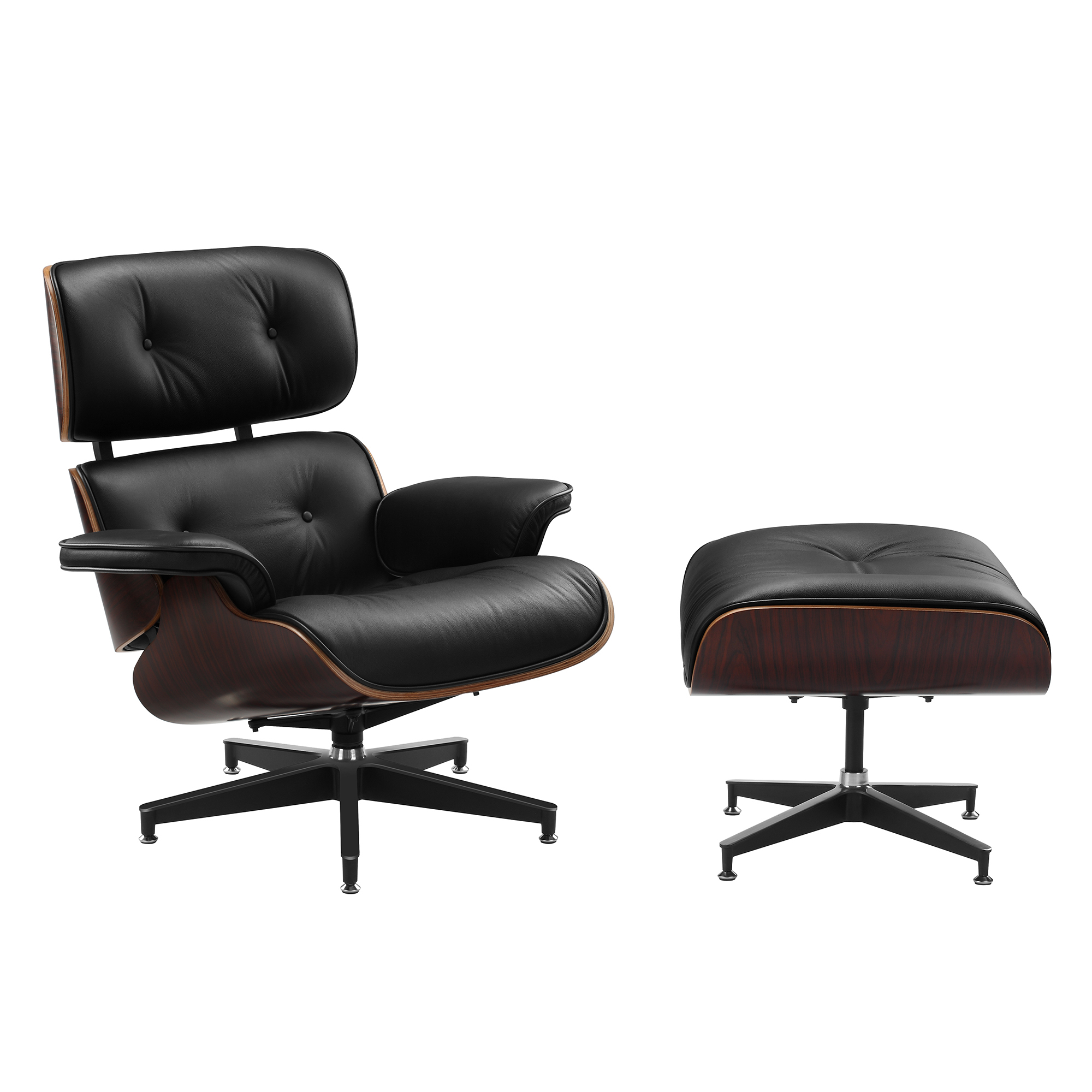 Eanes Chair Eames Premium Leather Replica Lounge Chair Ottoman