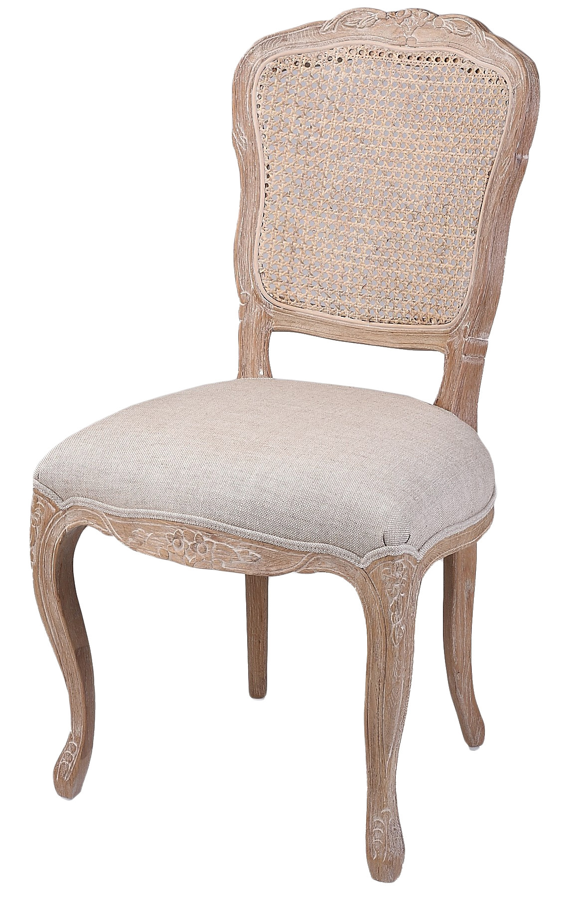 Country Dining Chairs New French Country Linen Dining Chair With Rattan Back