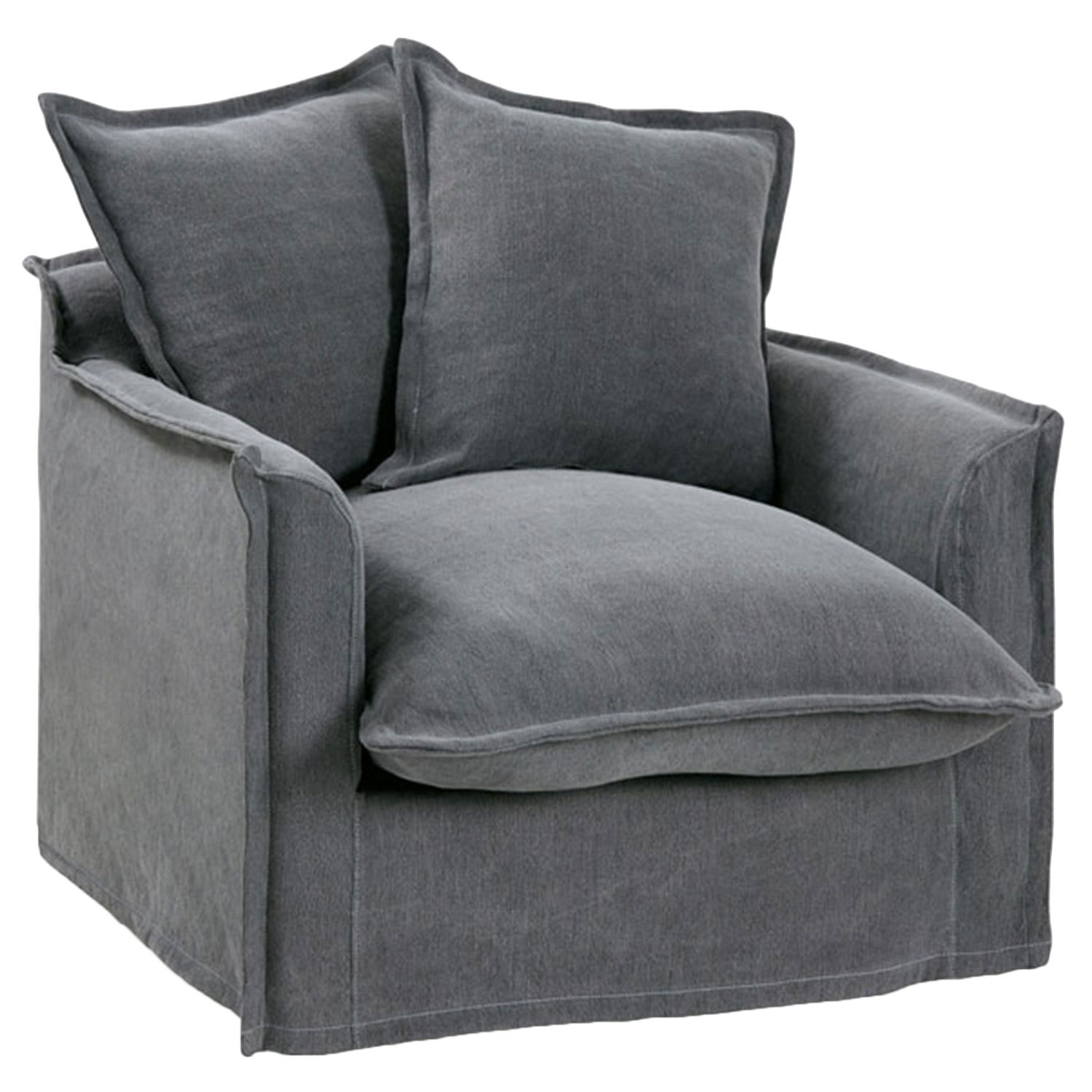 Slip Cover For Chair Slate Cumulus Slipcover Armchair