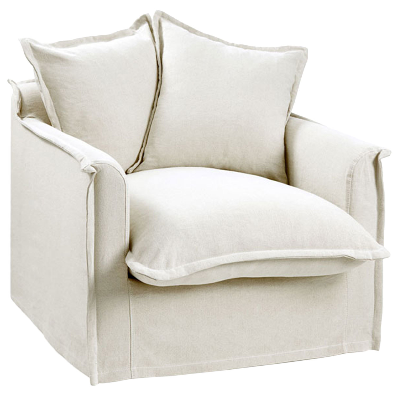 Slip Cover For Chair Stone Cumulus Slipcover Armchair