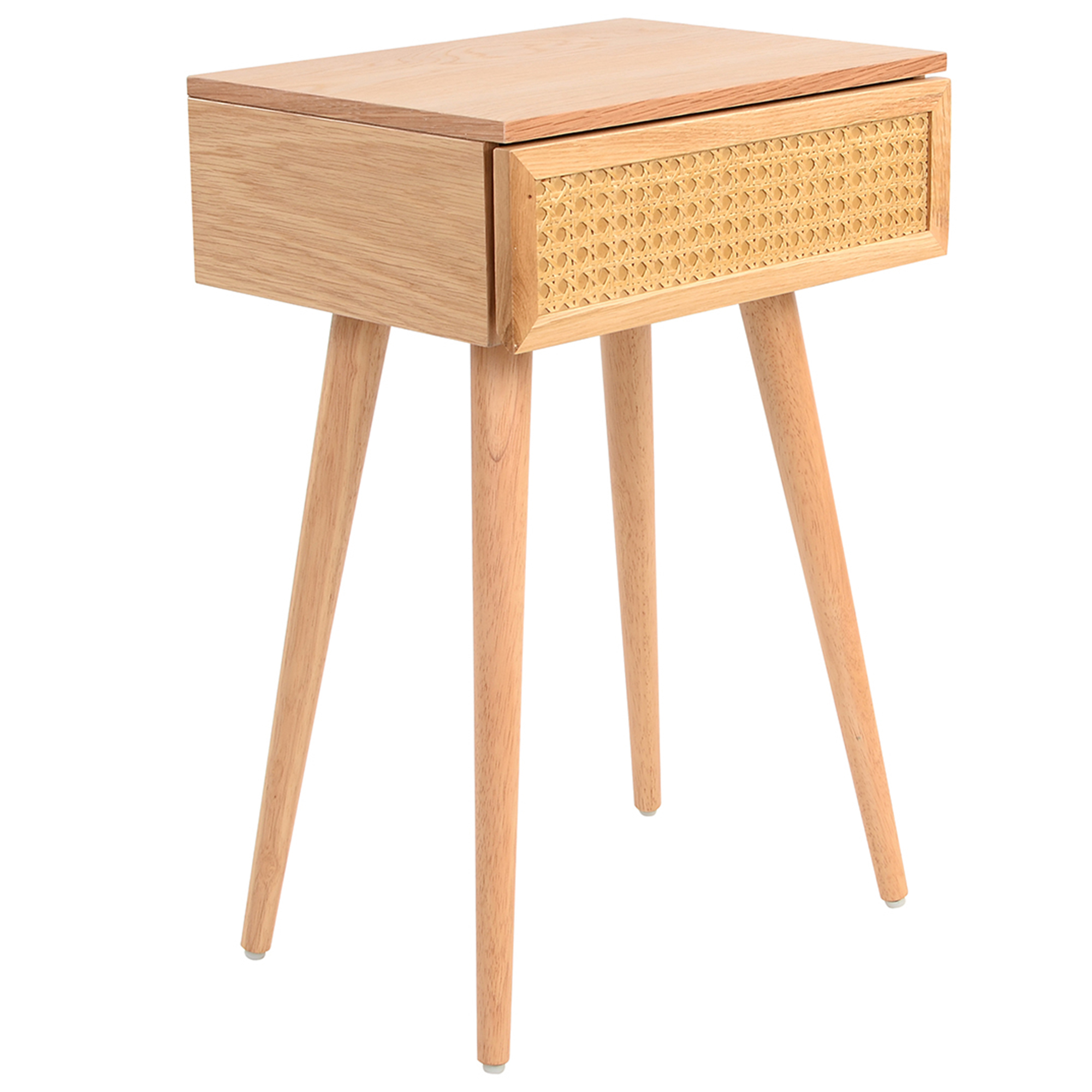 Light Oak Daintree Rattan Bedside Table