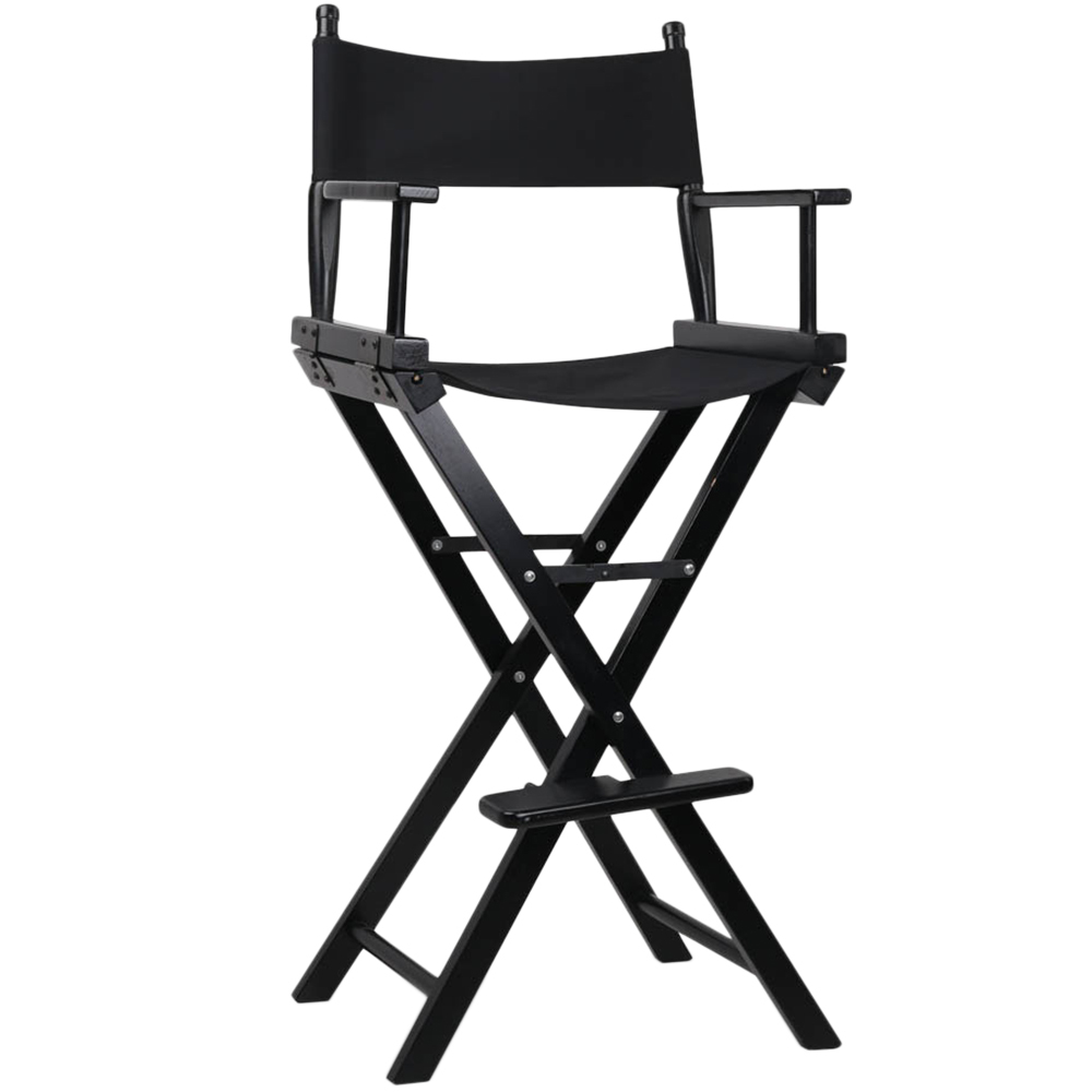 Black Directors Chair Tall Black Director S Chair Barstool