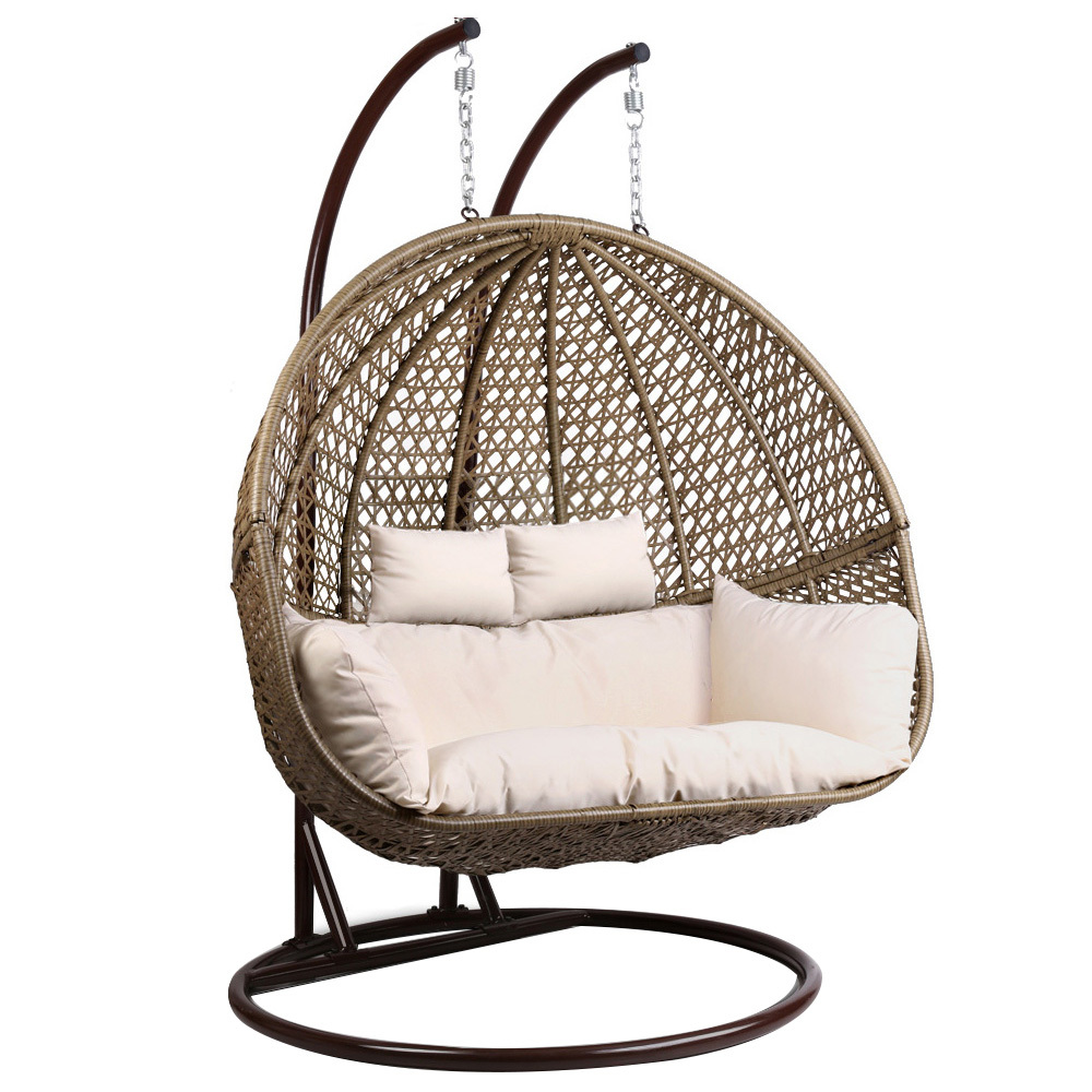 Double Egg Chair Gardeon Outdoor Double Hanging Swing Chair